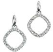 Open Square Diamond Earrings